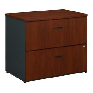 Bush Business Furniture Series A 36w Lateral File Cabinet In Hansen Cherry