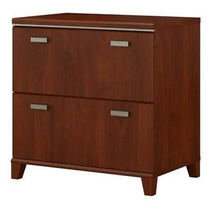 Bush Furniture Tuxedo 2 Drawer Lateral File Cabinet In Hansen Cherry