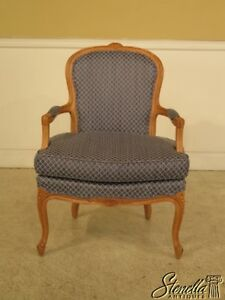 29011 French Louis Xv Style Open Arm Fauteuil Chair