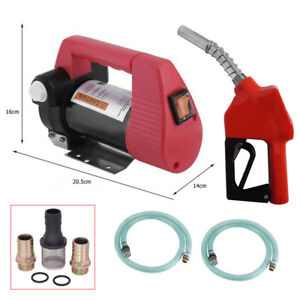 Portable 12v 10 Gpm Electric Diesel Oil Fuel Transfer Extractor Pump Pump Gun