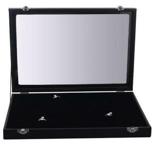 Ecklace Earring Jewelry Display Storage Case Leathe