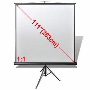 Full Hd 3d Hdtv Manual Pull Down Projection Screen Height Adjustable Stand 1 1