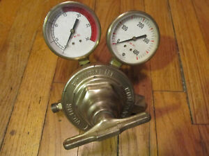 Used Victor Equiptment Co Sr 410a Acetylene Regulator Valve Gauge