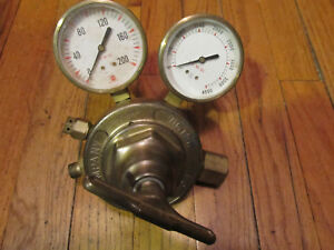 Used Victor Equiptment Co Sr 400d Oxygen Regulator Brass Valve Gauge