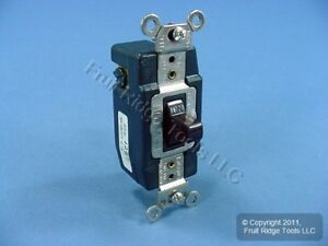 Leviton Brown Spdt Double Throw Maintained Toggle Contact Switch 30a Bulk 1287
