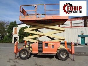 2009 Jlg 3394rt 33ft rough Terrain Scissor Boom Man Aerial Lift 4x4