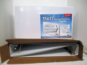 Lot Of 3 11 X 17 White Clearvue Binders With 3 Slant D Ring Crd22142 New