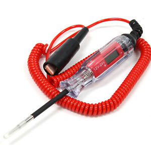 3v 12v Digital Electric Circuit Tester Test Light Probe Car Boat Trailer Rv Auto
