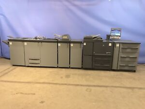 Minolta Bizhub 1052 B w Digital Printing Press High Speed Production 0 5mil