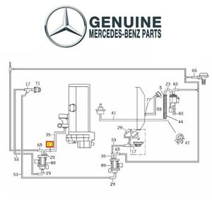For Mercedes Benz Vacuum Line Connector Genuine 6030780047
