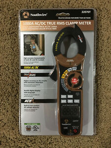 New Southwire 22070t Digital Clamp Meter 1000a 600v Ac dc True Rms Meter