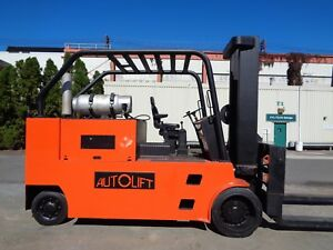 Autolift 40 000 Lbs B 1402 Forklift Boom Truck Propane Forks Positioners
