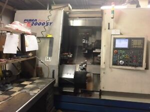 Used Daewoo Puma Tt 2000sy Twin Spindle Twin Turret Cnc Lathe New 2005