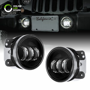 Black 4 Osram Led Driving Fog Light Kit For 07 18 Jeep Wrangler Jk Unlimited