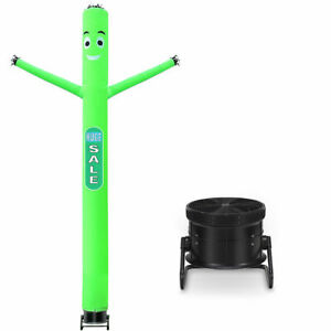 20 Ft Inflatable Puppet Dancer Tube Man Removable Slogans With Blower Green New