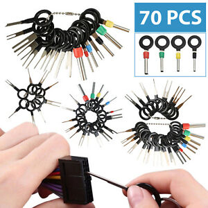 70pcs Car Terminal Removal Tool Wire Plug Connector Extractor Puller Release Pin