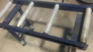 Conveyer System W Adjustable Height 4 Rollers Solid Steel Frame F s