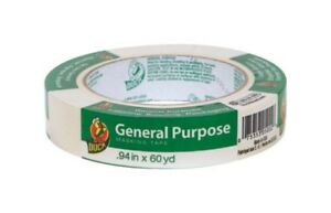 Duck 240350 General Purpose Masking Tape Beige 0 94 In X 60 Yard Pack Of 20