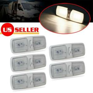 5x Rv Trailer Camper Interior Ceiling Dome Lights Lamp 2 modes Warm White Led