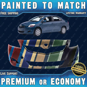 New Painted To Match Front Bumper Cover For 2007 2012 Toyota Yaris Sedan 07 12