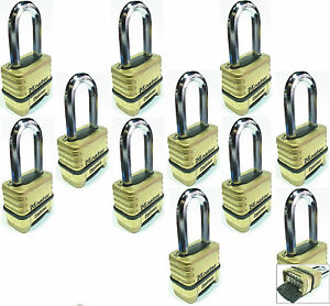Combination Lock Set Master 1175lh lot 11 Resettable Long Brass Sealed Carbide