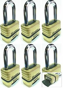 Combination Lock Set Master 1175lh lot 6 Resettable Long Brass Sealed Carbide