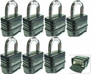 Combination Lock Set By Master 1178d lot 7 Resettable Weather Sealed Carbide