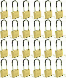 Master Lock Solid Brass 175lh lot Of 24 Set To Your Own Combination Padlock
