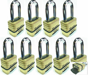 Combination Lock Set Master 1175lh lot 9 Resettable Long Brass Sealed Carbide