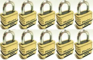 Combination Lock Set By Master 1175 lot Of 10 Resettable Brass Sealed Carbide