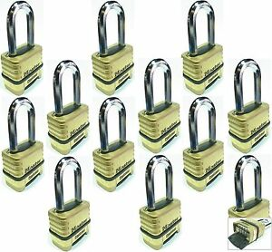 Combination Lock Set Master 1175lh lot 12 Resettable Long Brass Sealed Carbide