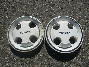 Lot Of 2 Toyota 1984 1985 Corolla Center Caps Hubcaps For 13 Inch Steel Wheels