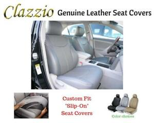 Clazzio Genuine Leather Seat Covers For 2009 2011 Toyota Tacoma Double Cab Gray
