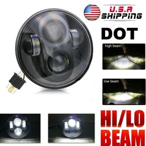 1x 5 75 5 3 4 90w Projector Led Light Bulb Headlight Lamp For Harley Motorcycle