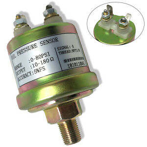 Oil Pressure Sender Vdo Type 0 80 Psi 10 180 Ohms W 16 Psi Low Alarm Switch