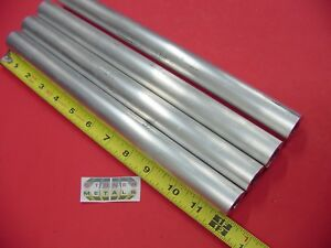 4 Pieces 1 1 4 Aluminum 6061 Round Rod 12 Long T6 Solid Extruded Bar Stock