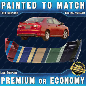 Painted To Match Rear Bumper Replacement For 2011 2013 Toyota Corolla S Xrs