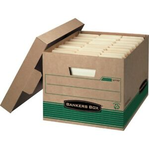 12 Pack Fellowes Bankers Box 12770 Recycled Stor file Medium duty Storage
