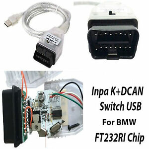 Obd2 For Bmw Inpa Usb K Dcan Diagnostic Tool Obdii Interface Cable Car Scanner