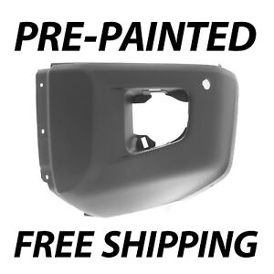 New Painted To Match Left Front Bumper End For 2014 2019 Toyota Tundra W Park