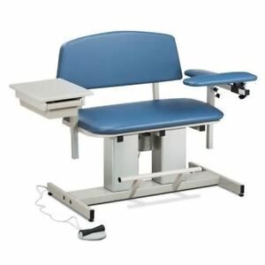 Clinton Power Series Bariatric Blood Drawing Chair With Padded Flip Arm And Draw