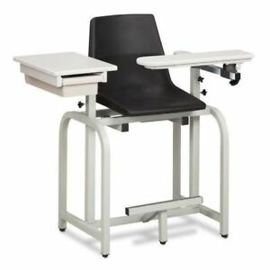 Clinton Standard Lab Series Extra Tall Blood Drawing Chair With Clintonclean Fli