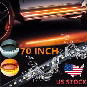 70 Running Board Led Light Strip Side Step For Chevy Dodge Gmc Jeeps Suv Truck