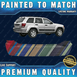 New Painted To Match Rear Bumper Direct Fit For 2005 2010 Jeep Grand Cherokee