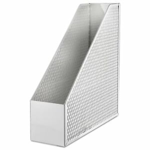 Urban Collection Punched Metal Magazine File White