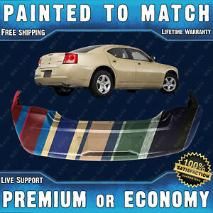 New Painted To Match Rear Bumper Replacement For 2006 2010 Dodge Charger 06 10