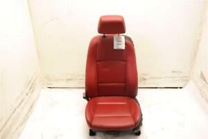 Left Driver Front Red Leather Bucket Seat Manual Sport Fits 08 13 Bmw 135i Oem