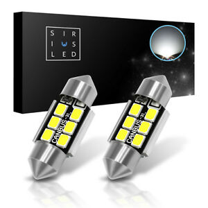 Siriusled Canbus 31mm De3175 Led Dome Map Trunk Light Bulbs 6000k White 2x 400lm