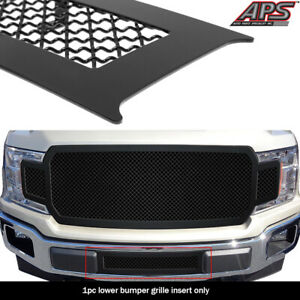 Fits 2018 2020 Ford F 150 Lower Bumper Black Mesh Grille Insert