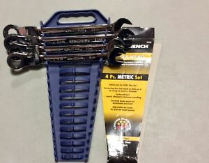 closeout Gearwrench 9903 4 Piece Metric Flex head Ratcheting Wrench Set